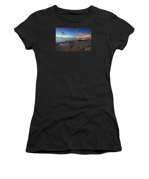 Ocean Beach Pier At Sunset, San Diego, California Women's T-Shirt