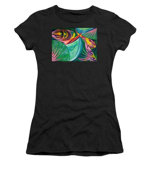 Ocean Graffiti Women's T-Shirt (Athletic Fit)