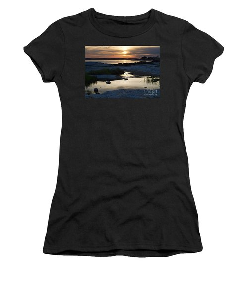 Ocean Point Sunset In East Boothbay Maine  -23091-23093 Women's T-Shirt