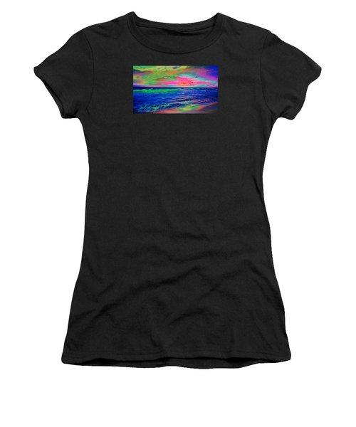 Ocean Sunset 2 Women's T-Shirt (Athletic Fit)