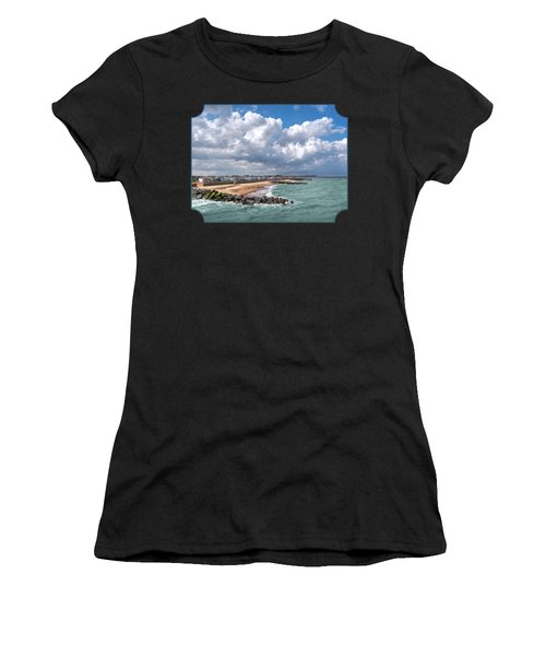 Ocean View - Colorful Beach Huts Women's T-Shirt