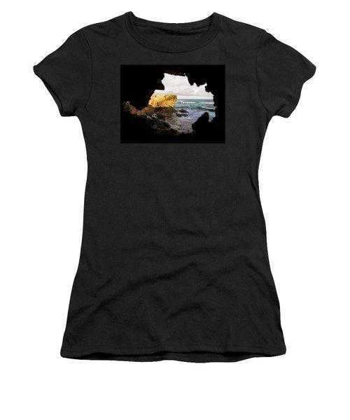 Oceanfront Cave Women's T-Shirt