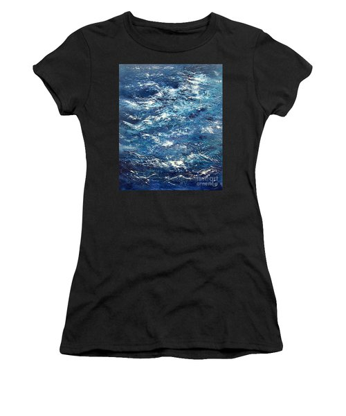 Ocean's Blue Women's T-Shirt (Athletic Fit)