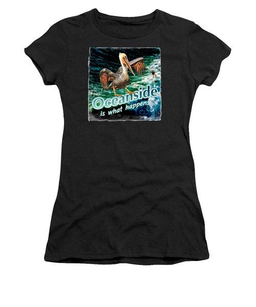 Oceanside Happens Women's T-Shirt (Athletic Fit)