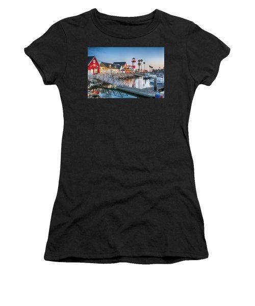 Oceanside Harbor Village At Dusk Women's T-Shirt