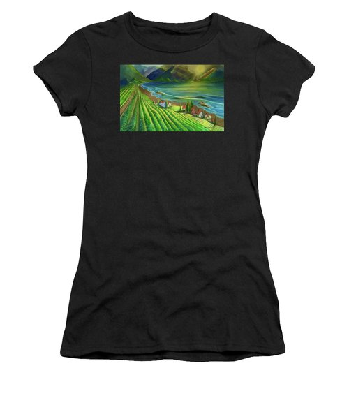 Sunset Vineyard  Women's T-Shirt (Athletic Fit)