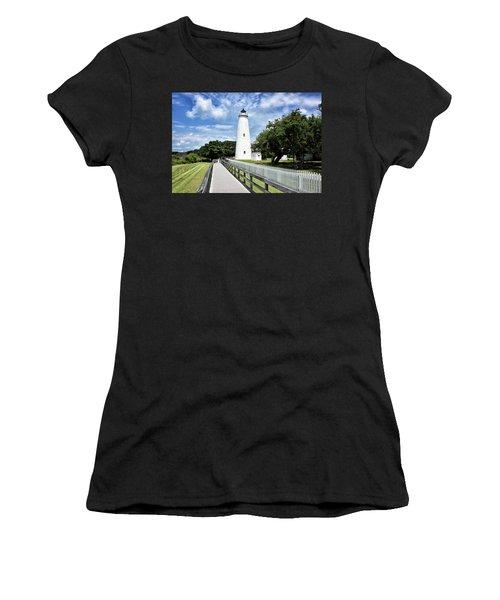 Ocracoke Light Women's T-Shirt (Athletic Fit)