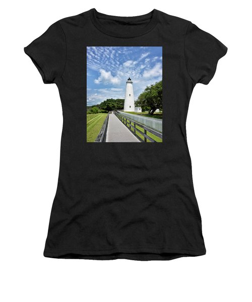 Ocracoke Lighthouse - Outer Banks Women's T-Shirt (Athletic Fit)