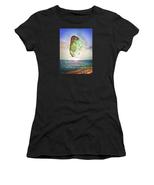 October Birthstone Opal Women's T-Shirt (Athletic Fit)
