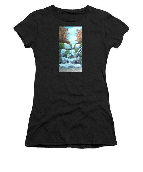 October Falls Women's T-Shirt (Athletic Fit)