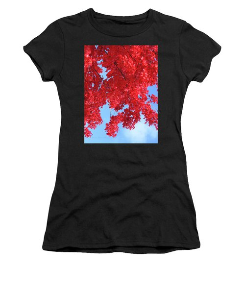 October In The Valley - Fire In The Sky Women's T-Shirt (Athletic Fit)