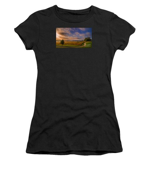 October Morning At Valley Forge Women's T-Shirt (Athletic Fit)