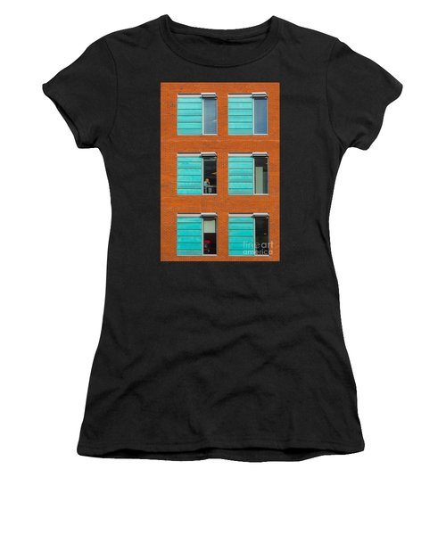 Office Windows Women's T-Shirt (Athletic Fit)