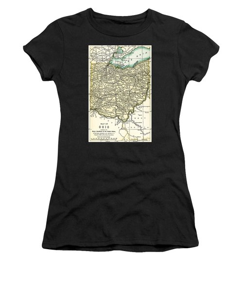 Ohio Antique Map 1891 Women's T-Shirt
