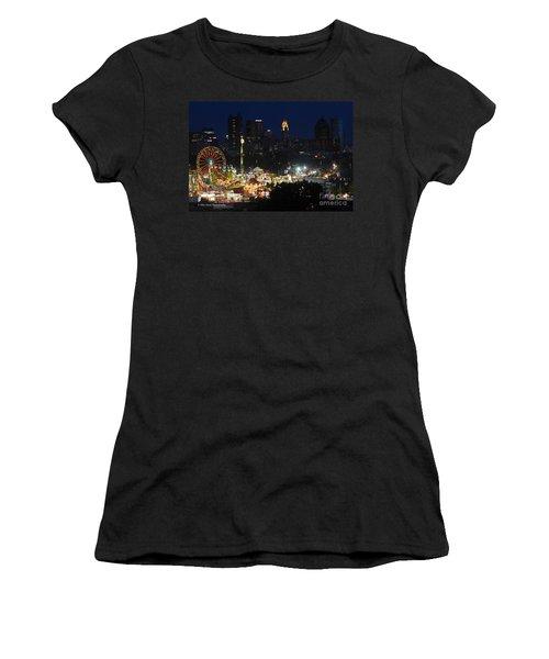 D3l-464 Ohio State Fair With Columbus Skyline Women's T-Shirt