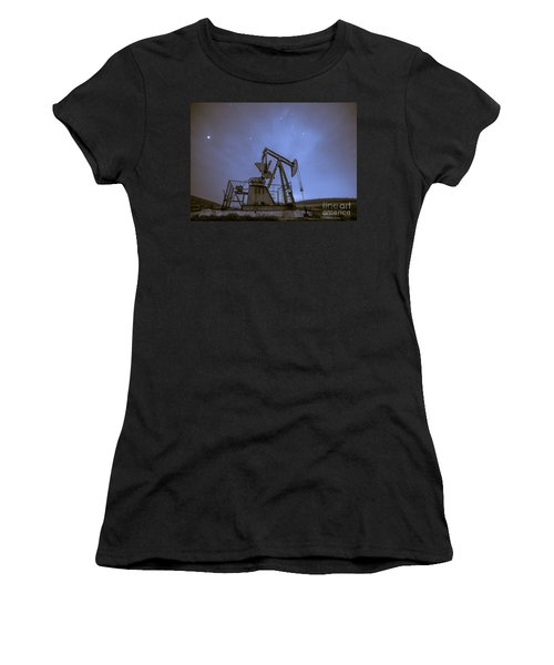 Oil Rig And Stars Women's T-Shirt