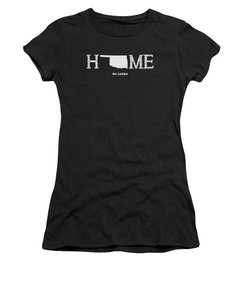 Women's T-Shirt featuring the mixed media Ok Home by Nancy Ingersoll