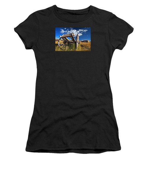 Old Abandoned Wagon, Bodie Ghost Town, California Women's T-Shirt (Athletic Fit)