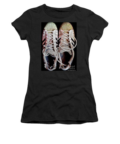 Women's T-Shirt (Junior Cut) featuring the photograph Old Adidas Supestar II by Don Pedro De Gracia