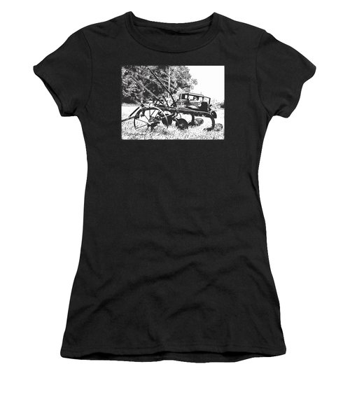 Old And Rusty In Black White Women's T-Shirt