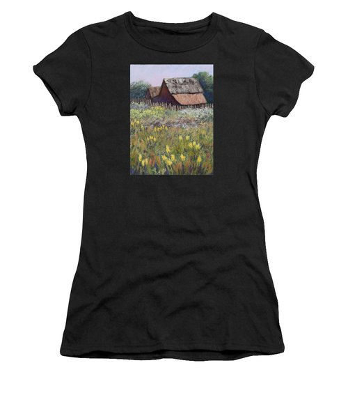 Old Barn In Spring Women's T-Shirt (Athletic Fit)