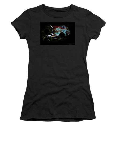 Women's T-Shirt featuring the photograph Old Blue Chevy by Glenda Wright