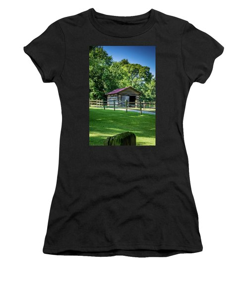 Women's T-Shirt (Athletic Fit) featuring the photograph Old Building - The Hermitage by James L Bartlett