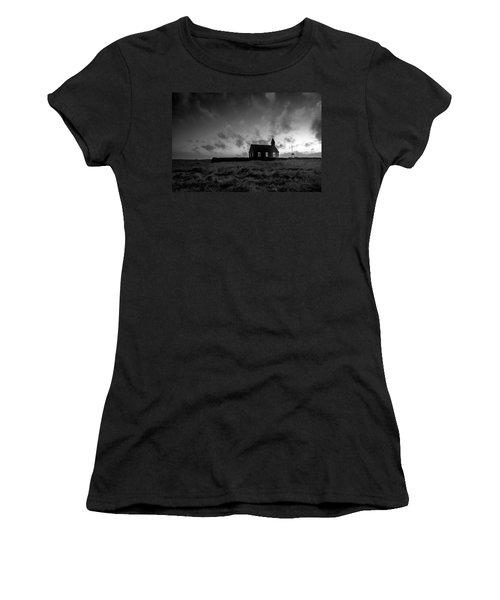 Old Countryside Church In Iceland Women's T-Shirt (Junior Cut) by Joe Belanger