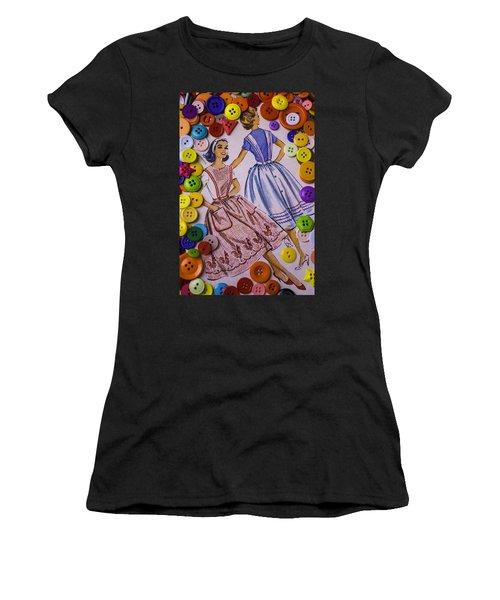 Old Dress Patterns Women's T-Shirt