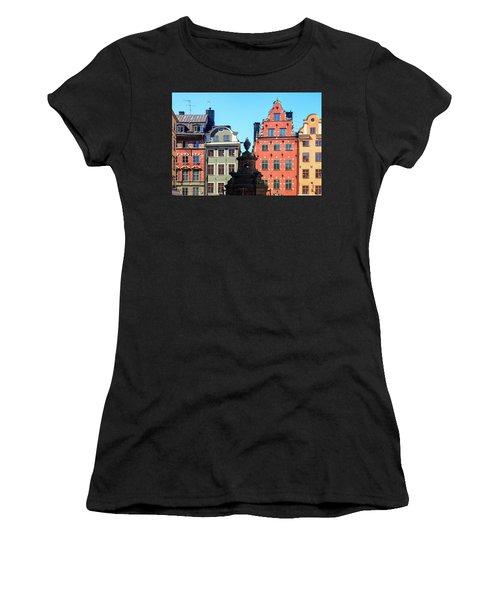 Old European Architecture Women's T-Shirt (Junior Cut) by Teemu Tretjakov