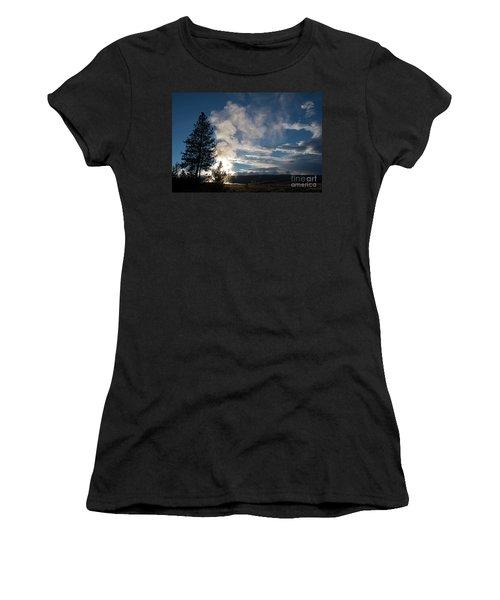 Old Faithfull At Sunset Women's T-Shirt