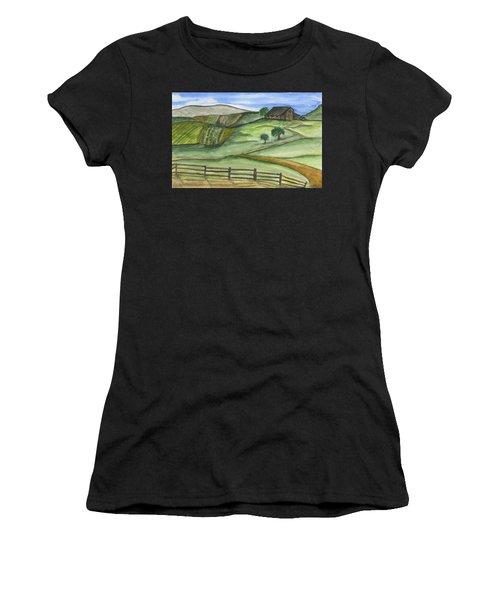 Old Farm Women's T-Shirt (Athletic Fit)