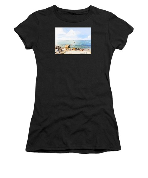 Old Garden Beach  Women's T-Shirt (Athletic Fit)