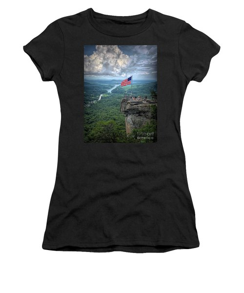 Old Glory On The Rock Women's T-Shirt