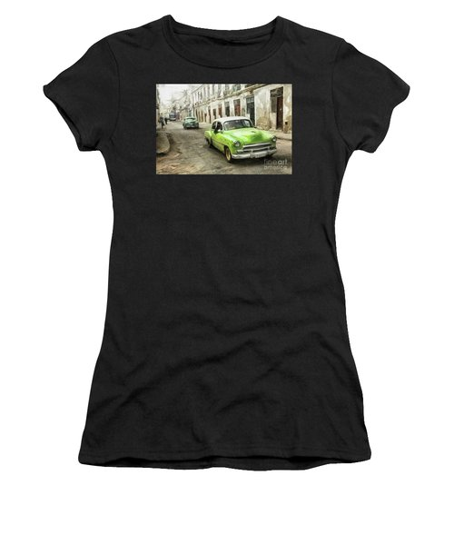 Old Green Car Women's T-Shirt