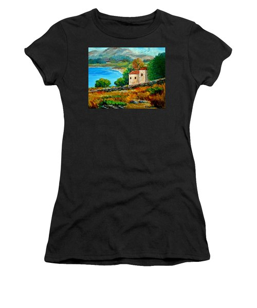 Old House In Mani Women's T-Shirt (Athletic Fit)
