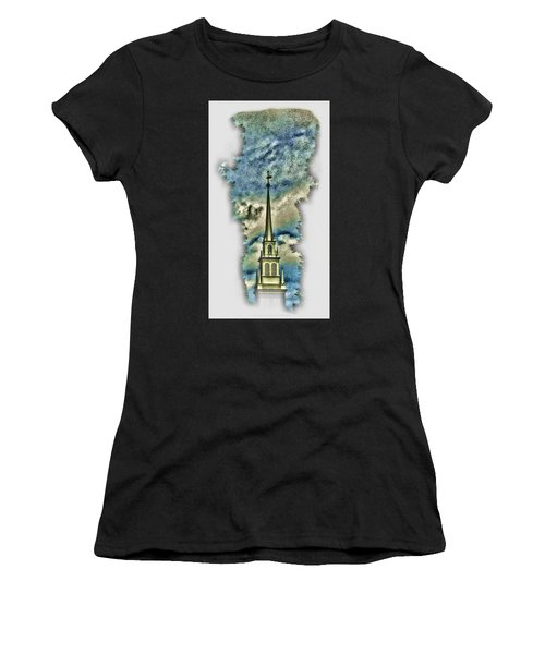 Old North Church Steeple Women's T-Shirt (Athletic Fit)