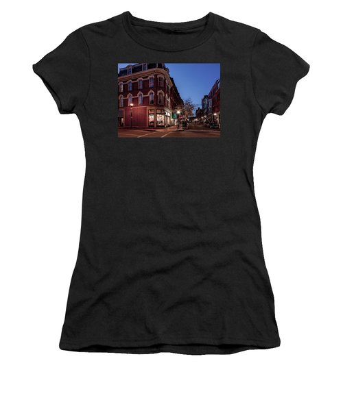 Old Port, Portland Maine Women's T-Shirt (Athletic Fit)