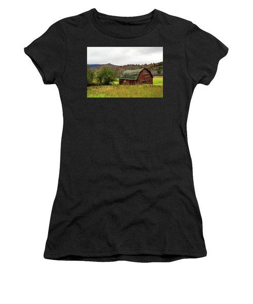 Old Red Adirondack Barn Women's T-Shirt