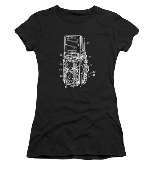 Old Rollie Vintage Camera White T-shirt Women's T-Shirt (Athletic Fit)