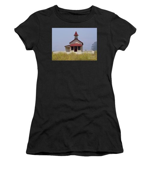 Old School House  Women's T-Shirt (Athletic Fit)