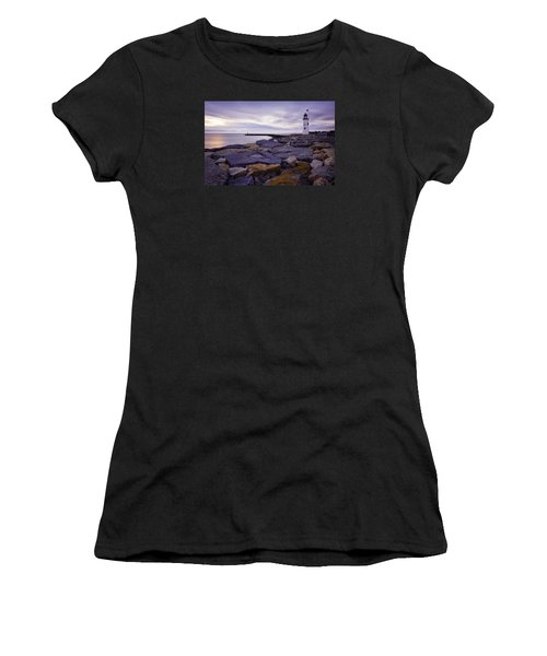 Old Scituate Light At Sunrise Women's T-Shirt