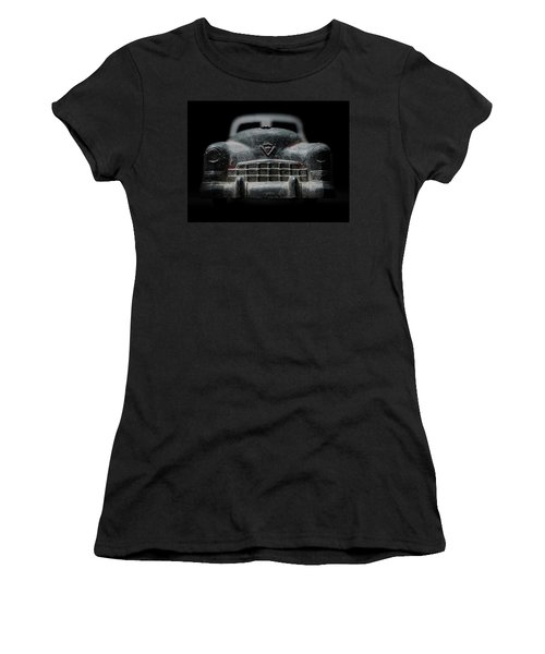 Old Silver Cadillac Toy Car With Specks Of Red Paint Women's T-Shirt