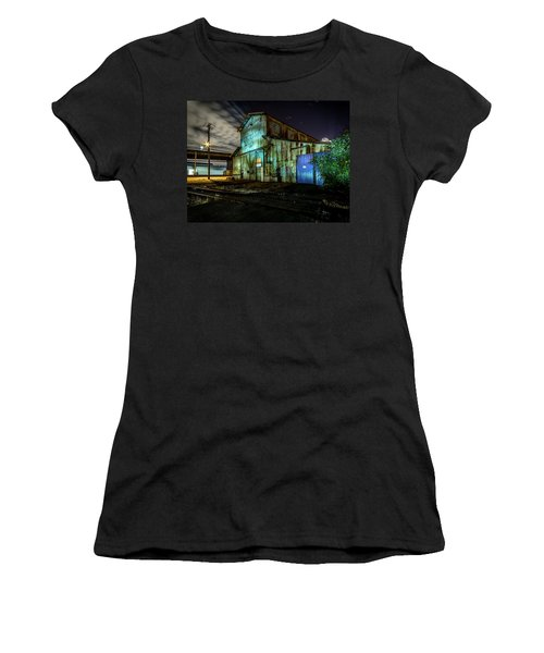 Old Tacoma Industrial Building Light Painted Women's T-Shirt