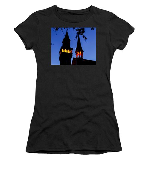 Old Town Hall Crescent Moon Women's T-Shirt