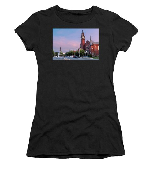 Old Town Hall Sunset Sky Women's T-Shirt