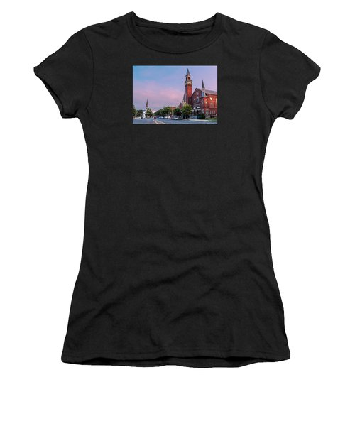 Old Town Hall Sunset Sky Women's T-Shirt