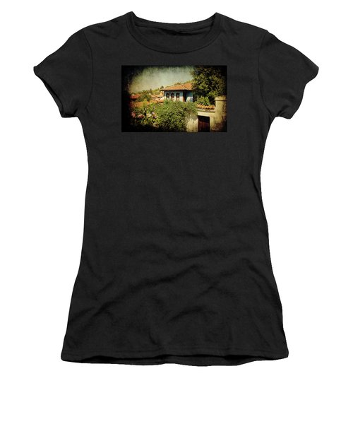 Women's T-Shirt featuring the photograph Old Town by Milena Ilieva