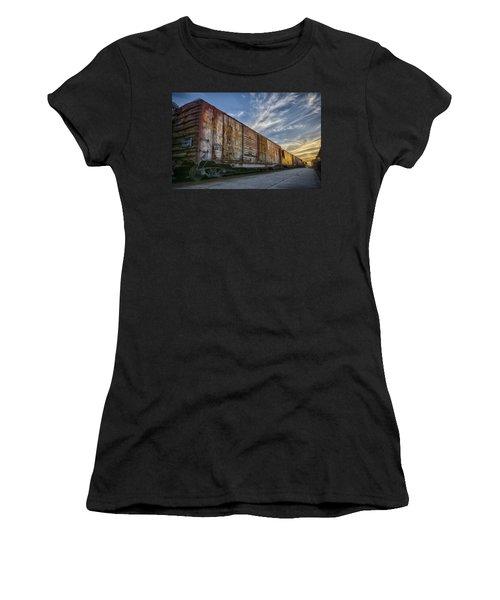Old Train - Galveston, Tx Women's T-Shirt (Junior Cut) by Kathy Adams Clark