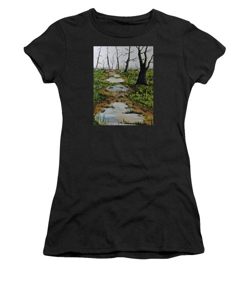 Old Walking Trail Women's T-Shirt (Athletic Fit)